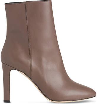 LK Bennett Ladies Grey Classic Edelle Leather Ankle Boots