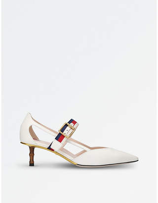 05ccf9a6faa at Selfridges · Gucci Unia leather court shoes