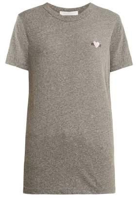Rodarte Rohearte Logo Embroidered T Shirt - Womens - Grey