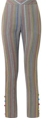 Rosie Assoulin Oboe Wool And Silk-blend Jacquard Slim-leg Pants