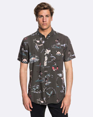 Quiksilver Mens Banzai Short Sleeve Camp Shirt