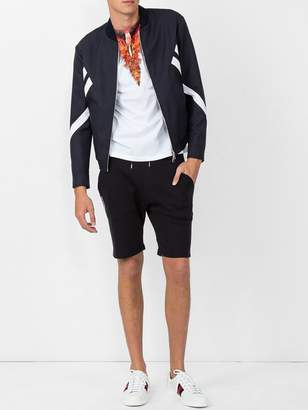 Neil Barrett Striped bomber jacket