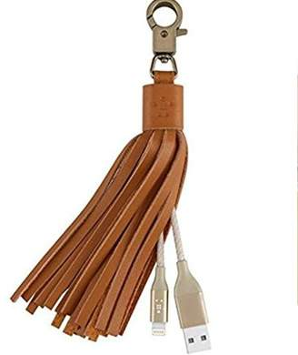 Generic Lightning USB Leather Tassel Key Chain With Cable For All Smartphones