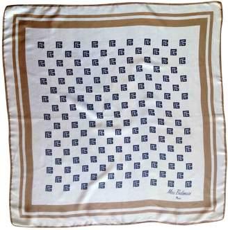 Balmain Vintage Ecru Silk Silk handkerchief