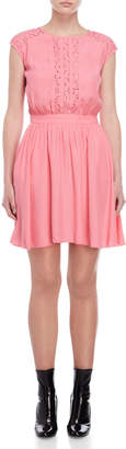 Love Moschino Pink Lace Trim Dress