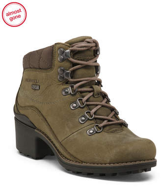 Waterproof Lug Sole Leather Boots