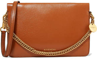 Givenchy Gv Cross Suede-trimmed Leather Shoulder Bag - Tan