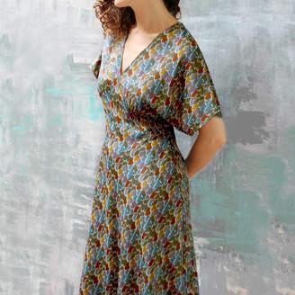 Biba Nancy Mac Dress In Inspired Print With Kimono Sleeves