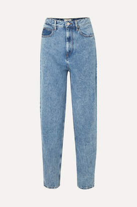 Etoile Isabel Marant Corsyj High-rise Tapered Jeans - Light blue