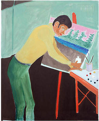 One Kings Lane Vintage Artist at His Easel by Molly Brubaker
