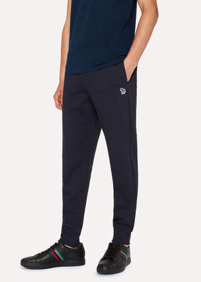 Paul Smith Men's Dark Navy Zebra Logo Cotton Sweatpants