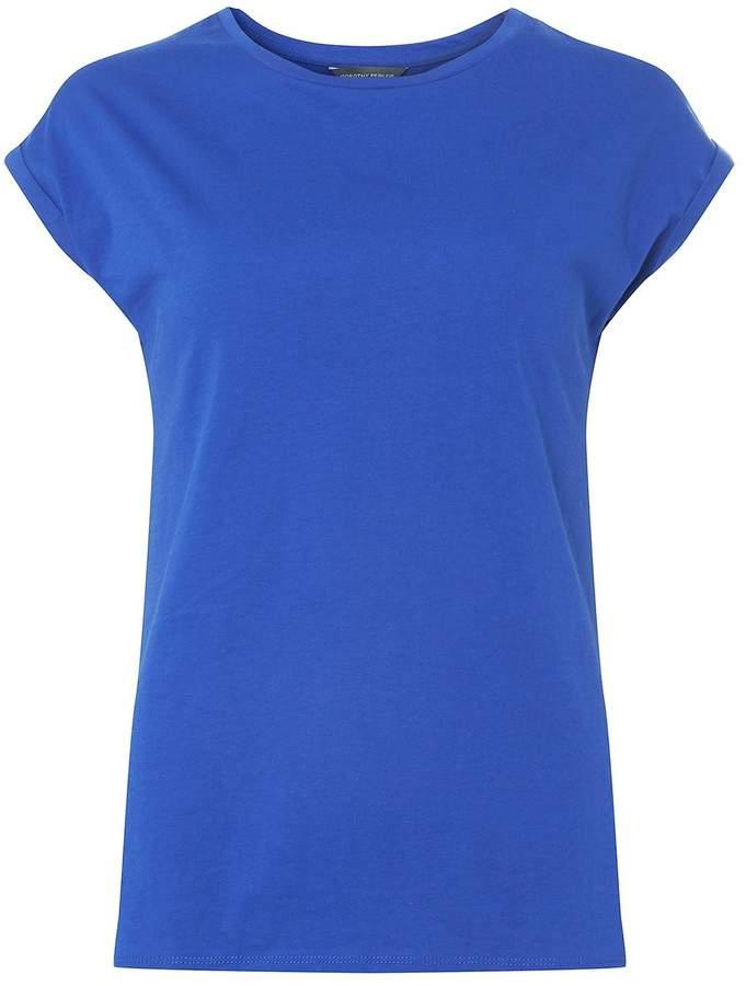 **Tall Cobalt Roll Sleeve T-Shirt