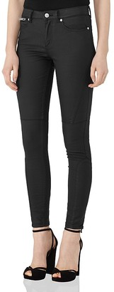 REISS Alexis Coated Skinny Jeans in Black $230 thestylecure.com