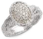 John Hardy Textured Diamond Ring