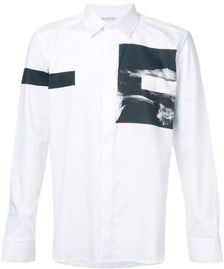 Neil Barrett printed button shirt