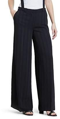 Kenneth Cole New York Kenneth Cole Women's Satin Stripe Wide Leg Suspender Trouser