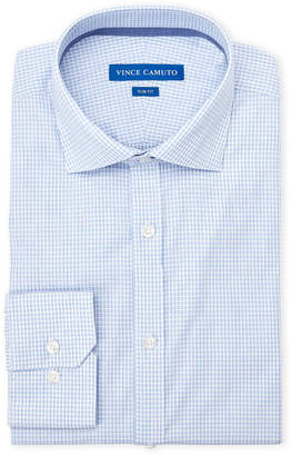 Vince Camuto Pastel Blue Stripe Slim Fit Dress Shirt