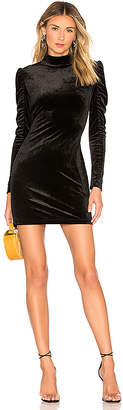 Bobi BLACK Liquid Velour Mini Dress