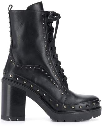 Pinko studded ankle boots