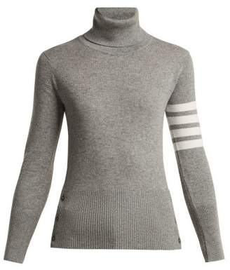 Thom Browne Cashmere Roll Neck Sweater - Womens - Light Grey