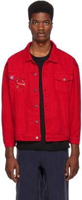 Nasaseasons Red Reworked Denim Jacket