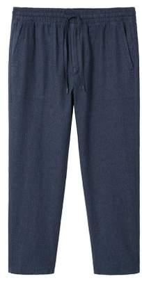 Mango man MANGO MAN Linen-blend jogging trousers