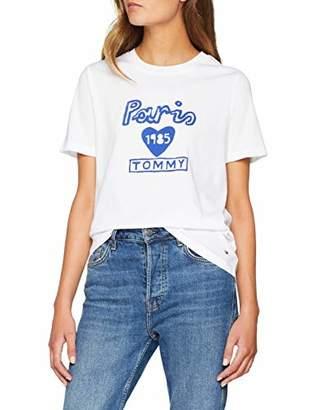 ... Tommy Hilfiger Women s Laryn C-nk Tee Ss T-Shirt, Multicolour (Classic 92d8fa8b5bec