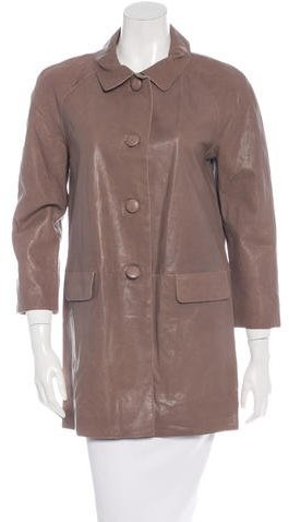 Kate Spade Kate Spade New York Leather Short Coat