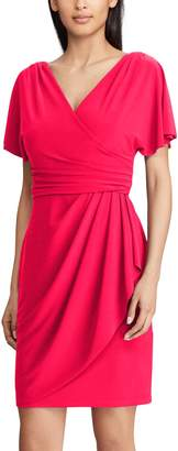 Chaps Women's Surplice Faux-Wrap Dress
