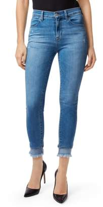 J Brand Alana Frayed High Waist Ankle Skinny Jeans