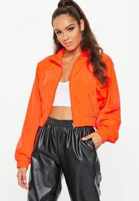 Missguided Neon Orange Zip Through Jacket