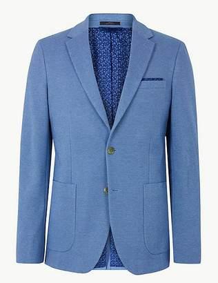 Marks and Spencer Cotton Blend Slim Fit Jacket