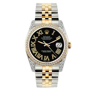 Datejust 36mm Black gold and steel Watches