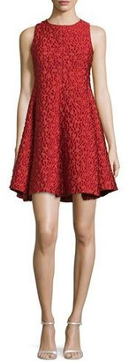 Armani Collezioni Textured Fit-&-Flare Dress, Matisse Red $1,395 thestylecure.com