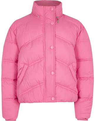 River Island Girls Pink funnel neck puffer jacket
