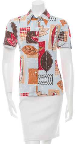 Dolce & GabbanaD&G Printed Button-Up Top