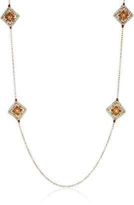 Miguel Ases Swarovski Crystal Station Necklace
