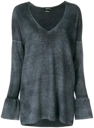 Avant Toi plunge neck knitted top