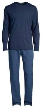 Hom Triangle Two-Piece Cotton Pajama Set