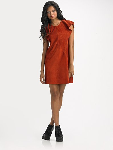 Rachel Comey Suede Short Sleeve Dress