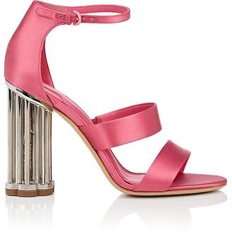 Salvatore Ferragamo Women's Caged-Heel Satin Sandals