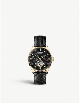 Ingersoll I04606 Hawley gold PVD plated and leather automatic watch