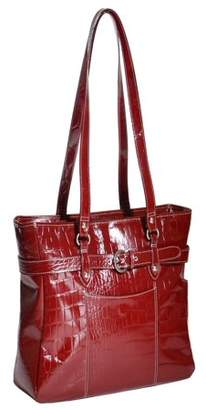 McKlein McKleinUSA SERRA, Ladies Laptop Briefcase, Top Grain Cowhide Leather, Red (35266)