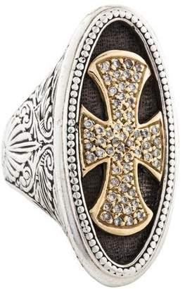 Konstantino Diamond Large Cross Ring
