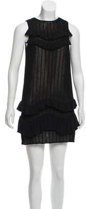 3.1 Phillip Lim Ruffle-Trimmed Mini Dress Black Ruffle-Trimmed Mini Dress