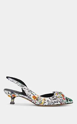 3a6b54e249c Salvatore Ferragamo Women s Bow-Embellished Floral Slingback Pumps