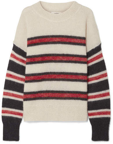 Isabel Marant Étoile - Russell Striped Mohair-blend Sweater - Ecru