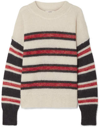 Etoile Isabel Marant Russell Striped Mohair-blend Sweater - Ecru