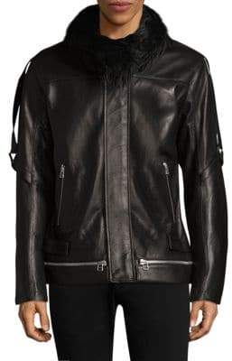 Helmut Lang Faux Shearling Leather Jacket