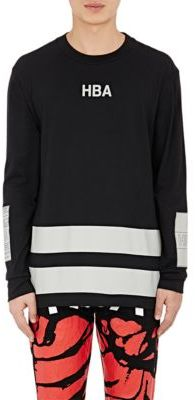 Hood by Air Men's Jock Long-Sleeve T-Shirt-BLACK $230 thestylecure.com